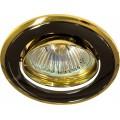 Светильник 301T-MR16 чёрный-золото
