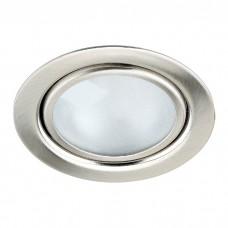 Встраиваемый неповоротный светильник с защитным стеклом (лампа в комплекте)