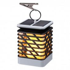 Уличный светильник на солнечной батарее с эффектом пламени