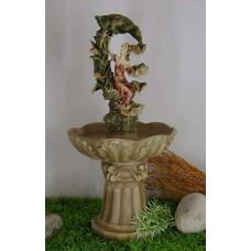 Фонтан садовый Девушка под лотосом арт.F1342